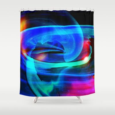 Alien Attack Abstract Shower Curtain Abstract Shower Curtain