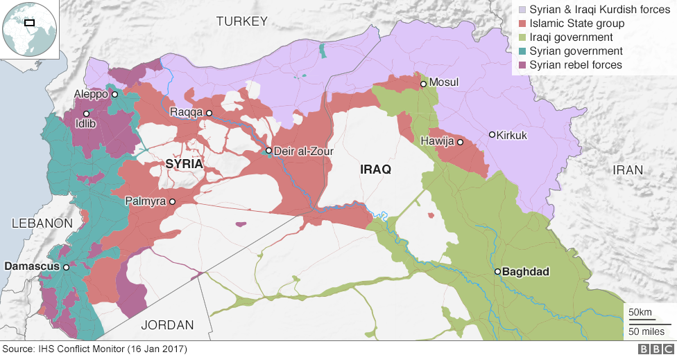 The War Against Islamic State In Maps And Charts Syria - Syria world map