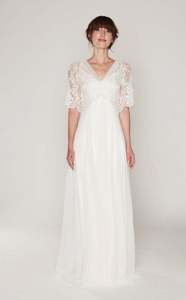 Iris Empire Wedding Dress Wedding Dresses Lace Empire Waist Wedding Dress