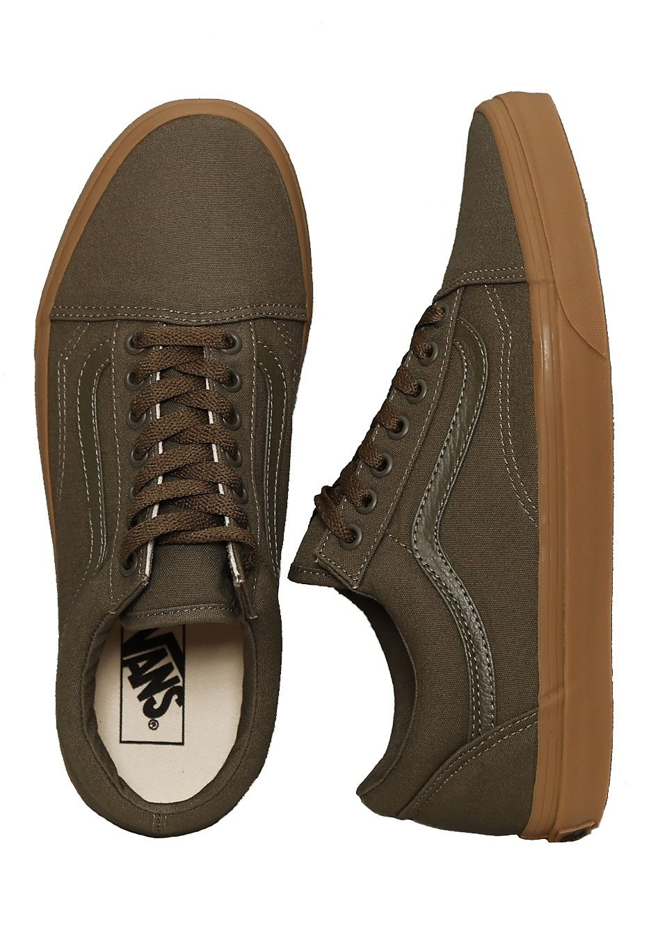 Checkout this out: Vans Old Skool Canvas Gum Ivy Green