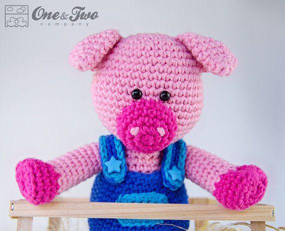 Eddie the Piggy Amigurumi  PDF Crochet Pattern  Instant