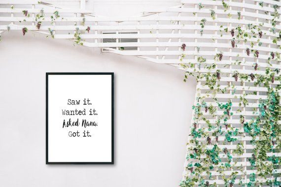 Nana Wall Art Digital Download Printable Sign Nana Grandma Birthday Or Christmas Gift Decorating Your Home Decor Home Decor