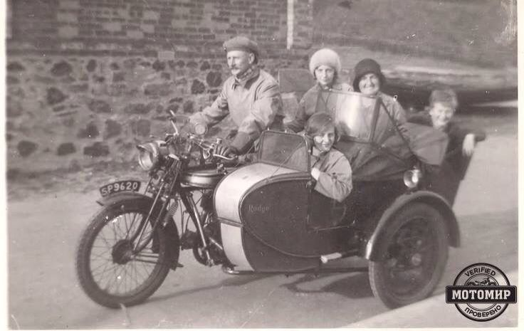 Norton BigFour and sidecar Rudge
