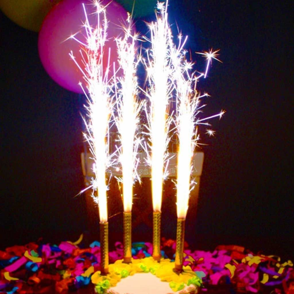 Incredible Candle Sparklers For Birthday Cakes Gold Sparkler Candle Party Funny Birthday Cards Online Aeocydamsfinfo