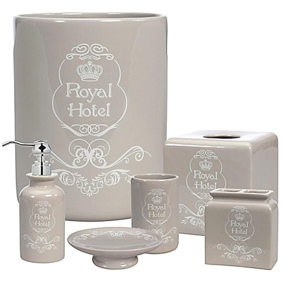 Blue Bathroom Accessories Creative Bath Royal Hotel 8 Piece Ceramic Bath Accessory Set