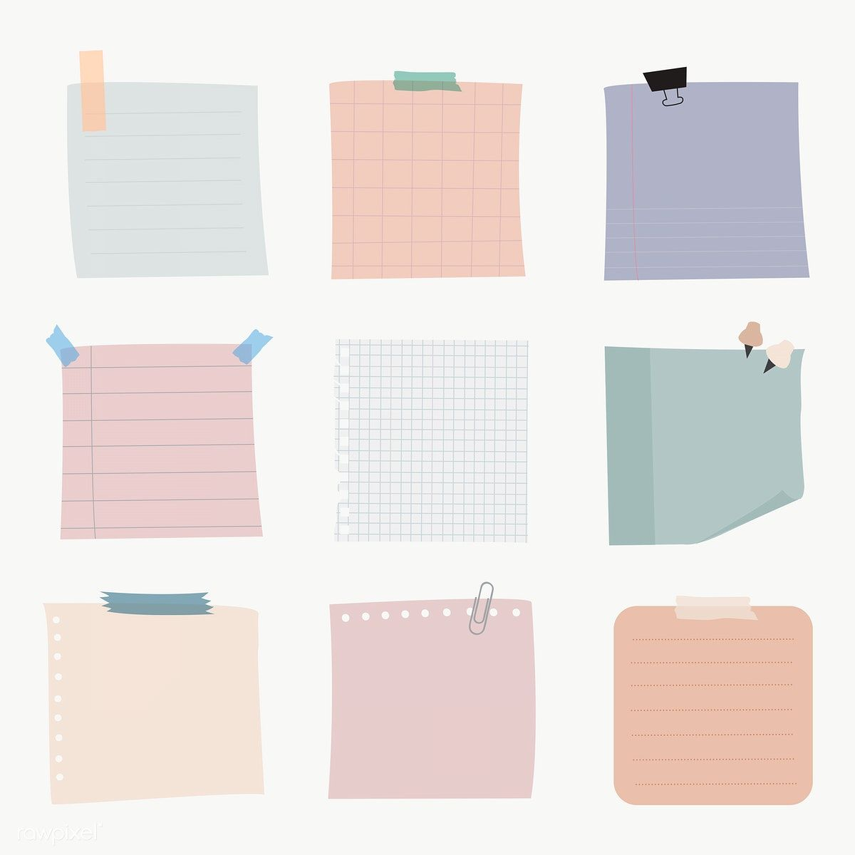 Download Premium Illustration Of Notepapers Collection Transparent