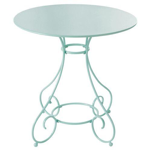Table de jardin ronde métal verte   Home sweet home   Pinterest ...