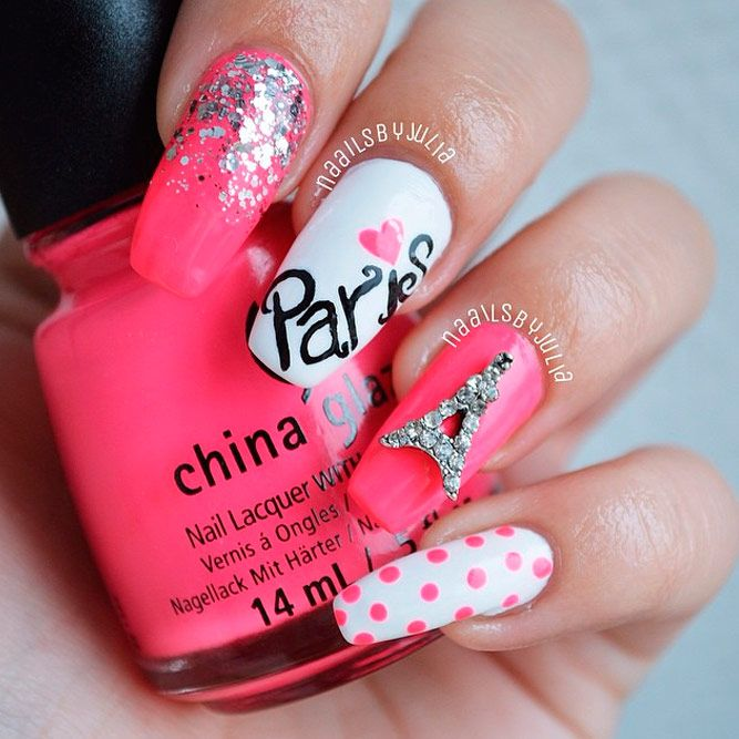 Innocently Sexy Pink | Pink nails, Kid nails and Eiffel tower nails