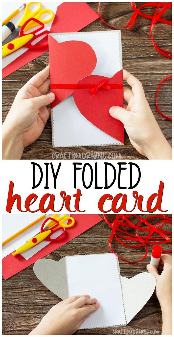 DIY Folded Heart Card - Crafty Morning