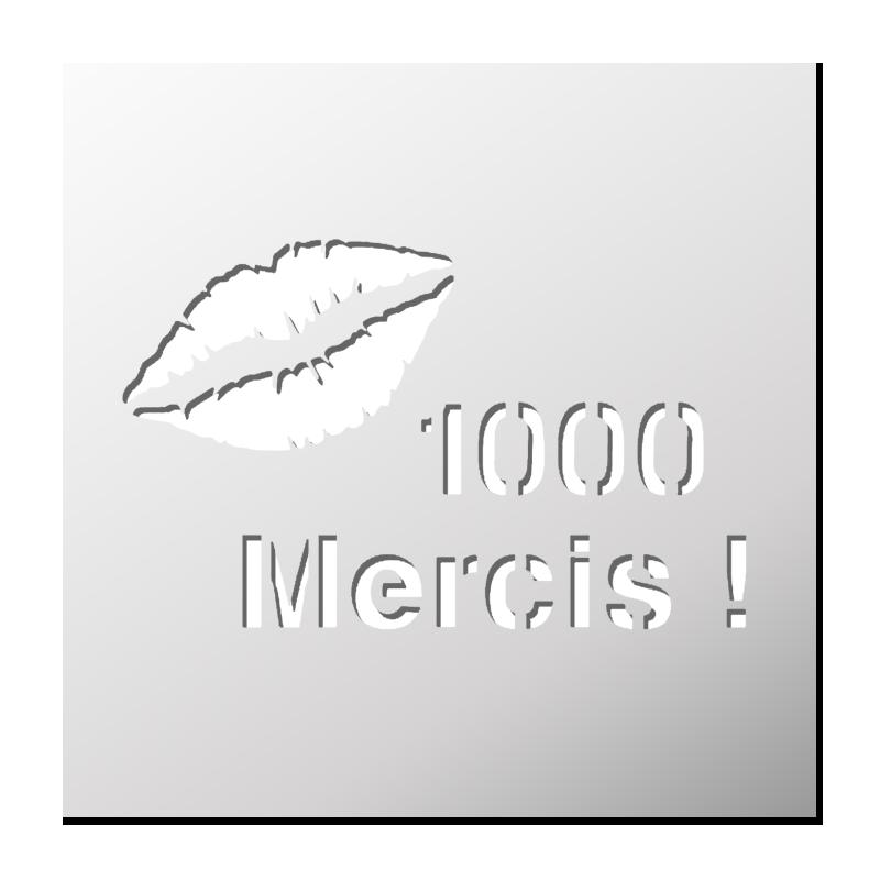 Pochoir 1000 Mercis Pochoir Silhouette Pochoir Gravure Sur Verre