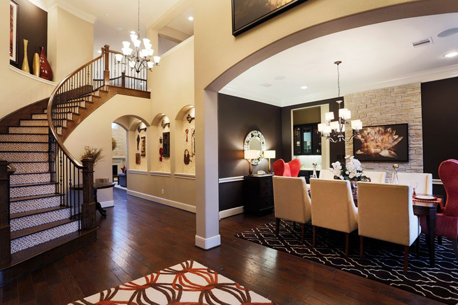 The Maltese Foyer And Dining Room Toll Brothers Reserve At Katy TX
