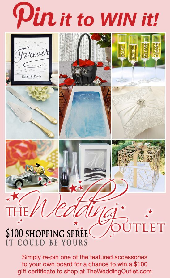 Surprise Giveaway Pin It To Win 100 To Shop At The Wedding Outlet Wedding Giveaways Wedding Outlet Wedding Contests