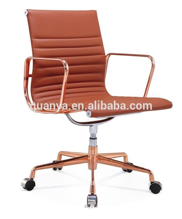 Quanya Rose Gold Metal Office Chair Executive Chair Style Leather Office Chair Buy Rose Gold Metal Gold Office Chair Dining Chair Pads Office Chairs For Sale