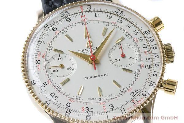 Breitling Chronomat Chronograph 18k Gold Handaufzug Kal Venus 175