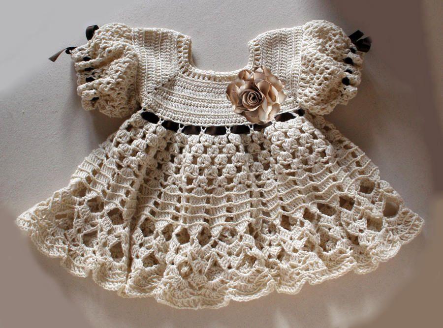 Baby dress 6 - 9 months , crochet pattern , Crochet baby dress by ...