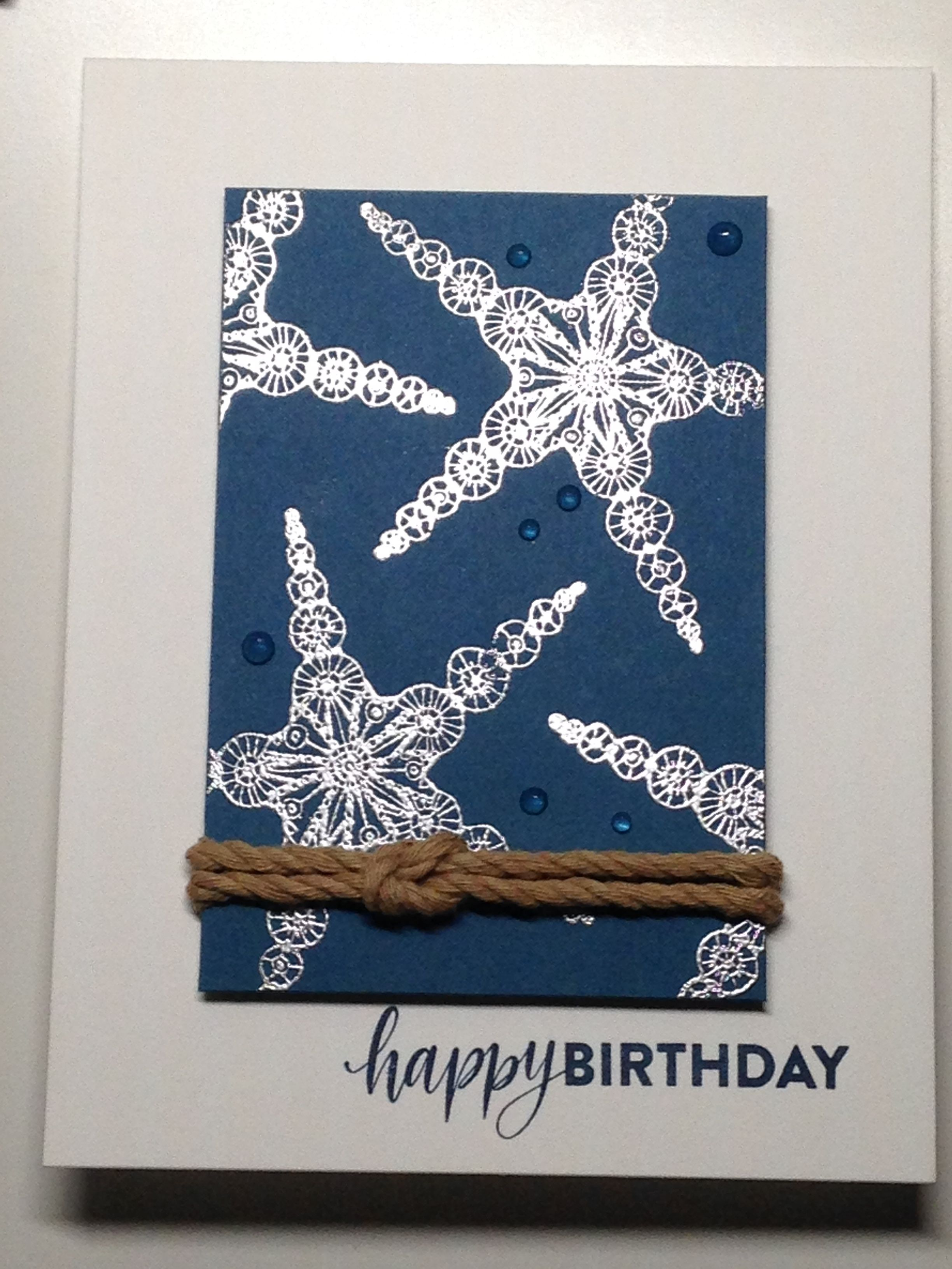 Masculine birthday card sss stamps under the sea brush stroke