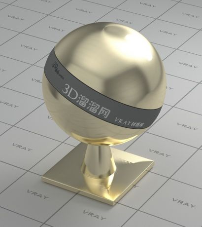 Polished Gold Plating Vray Material Plating Gold Plate Gold