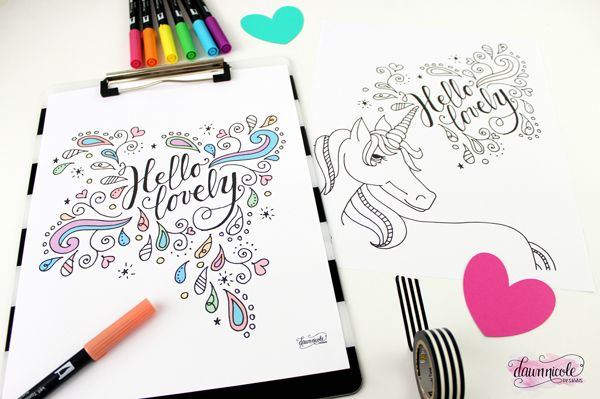 Hello Lovely Coloring Pages Coloring Pages For Teenagers