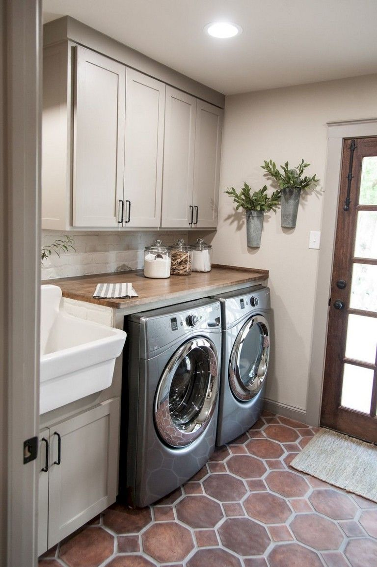 25+ Nice Modern Farmhouse Laundry Room Design Ideas