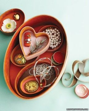Versatile #jewelry box with separate smaller boxes. Put a special necklace or bracelet from the The Carol Canter Collection in that heart-shaped one to make it super memorable. http://thecarolcantercollection.com