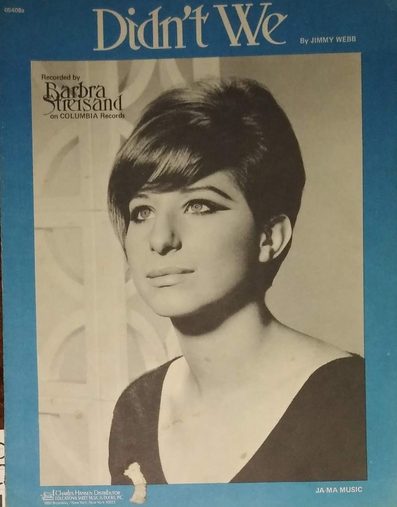 BARBRA STREISAND 1966 NEW Poster