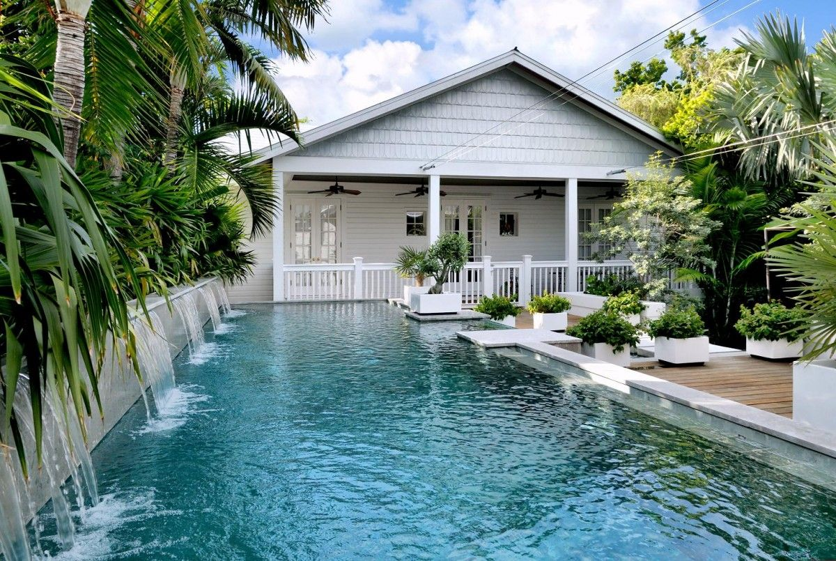 Landscaping Tropical Design Pool Houses Backyard Pool Backyard Pool Landscaping