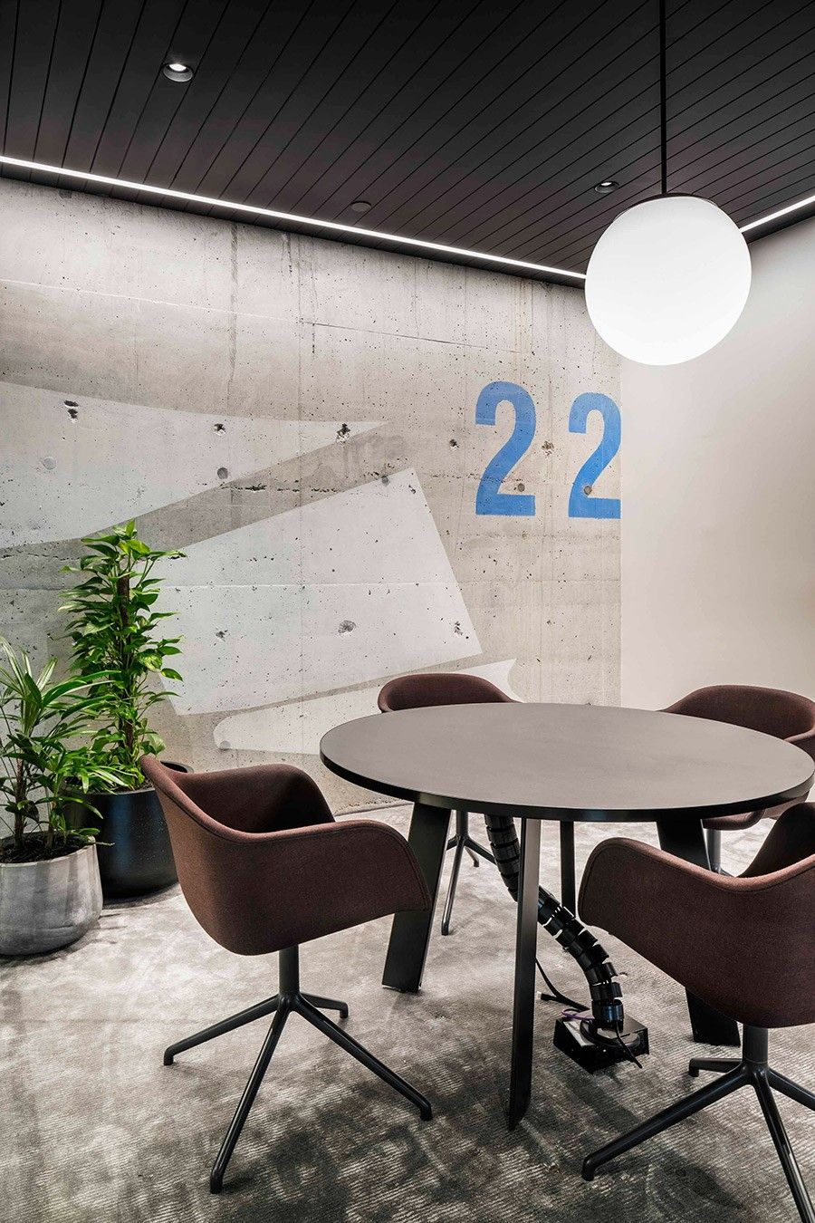 Continuing the co working design of spaceco meeting room