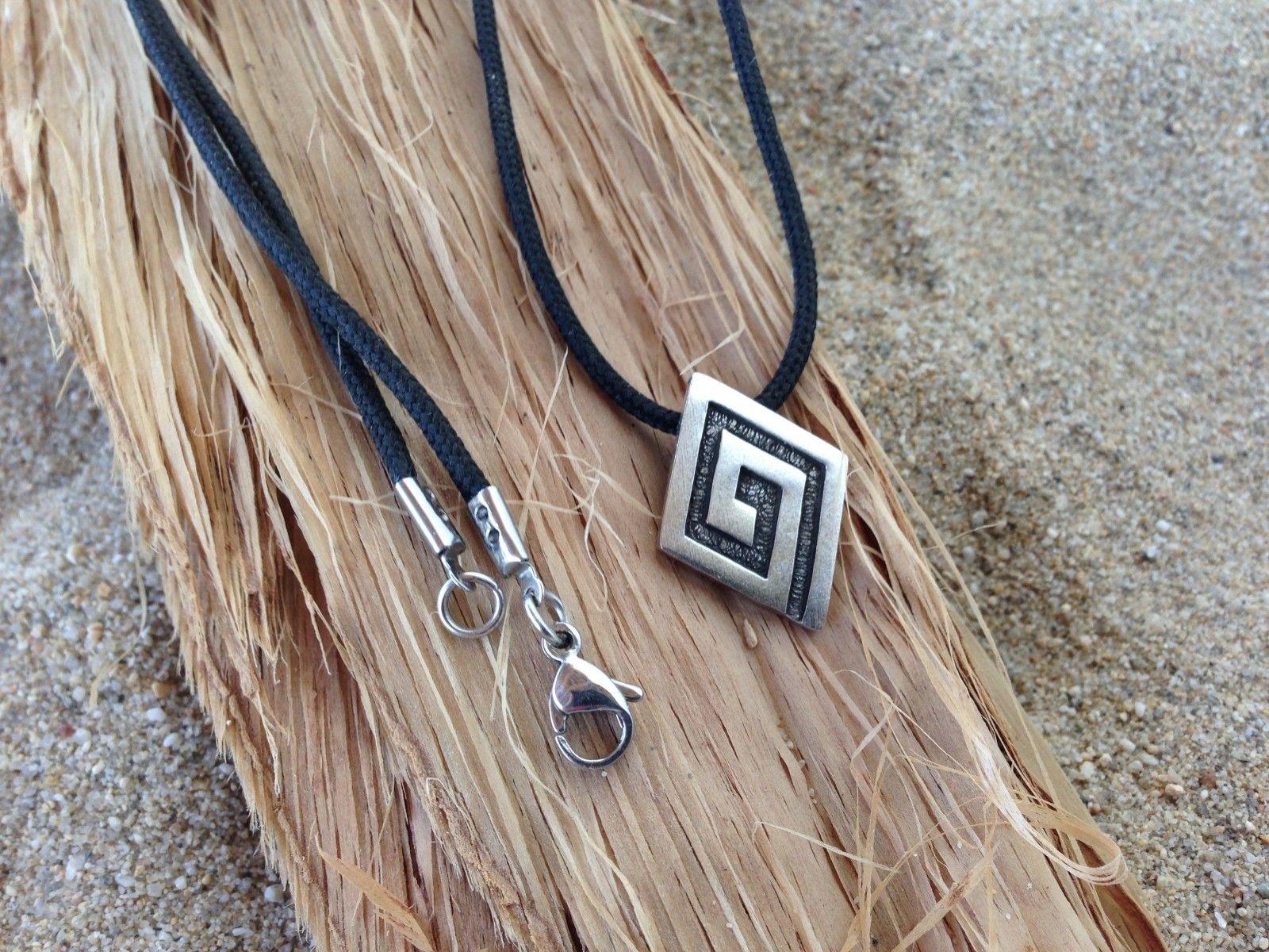 collier argent maille grecque