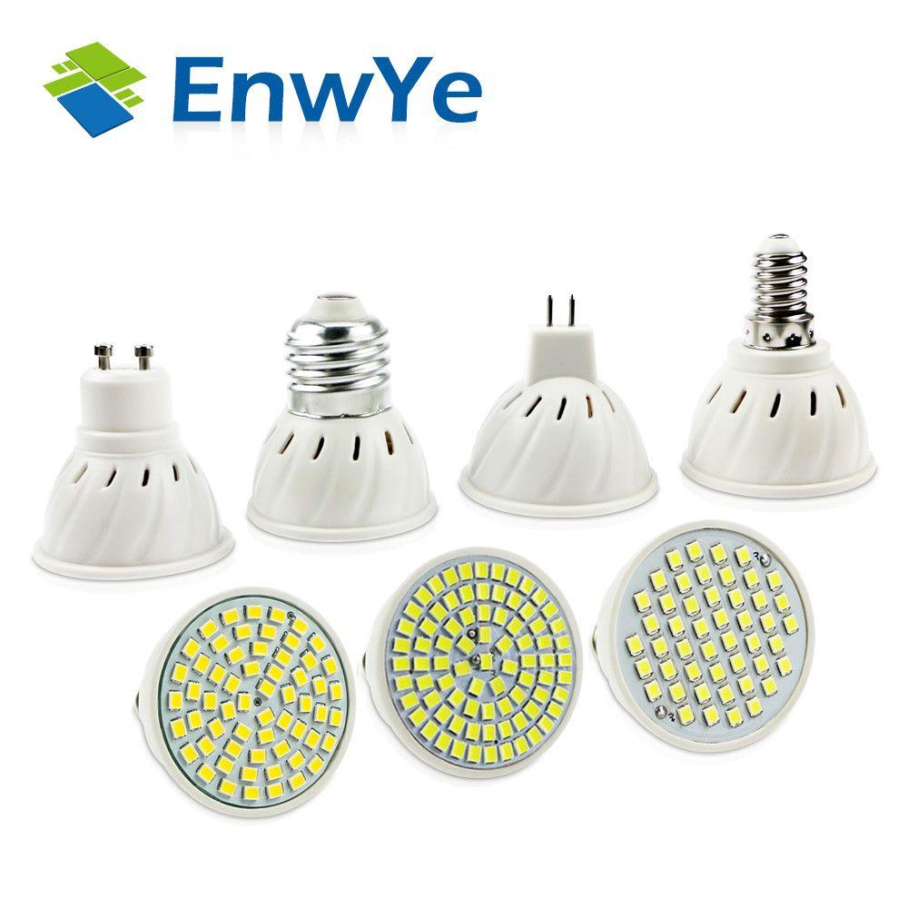 Bright E27 E14 Mr16 Gu5 3 Gu10 Lampada Led Bulb 110v 220v Bombillas Led Lamp Spotlight 48 60 80 Led 2835smd Lampara Spot Light Led Bulb Led Spotlight Led Lamp