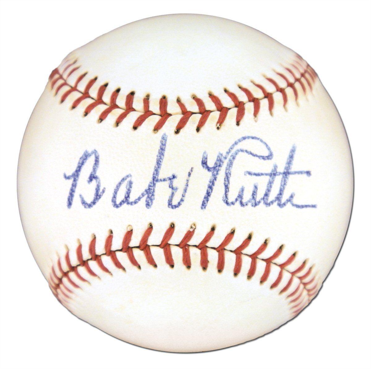 Babe Ruth Psa Autographfacts Babe Ruth Babe Ruth Signed Baseball Autograph