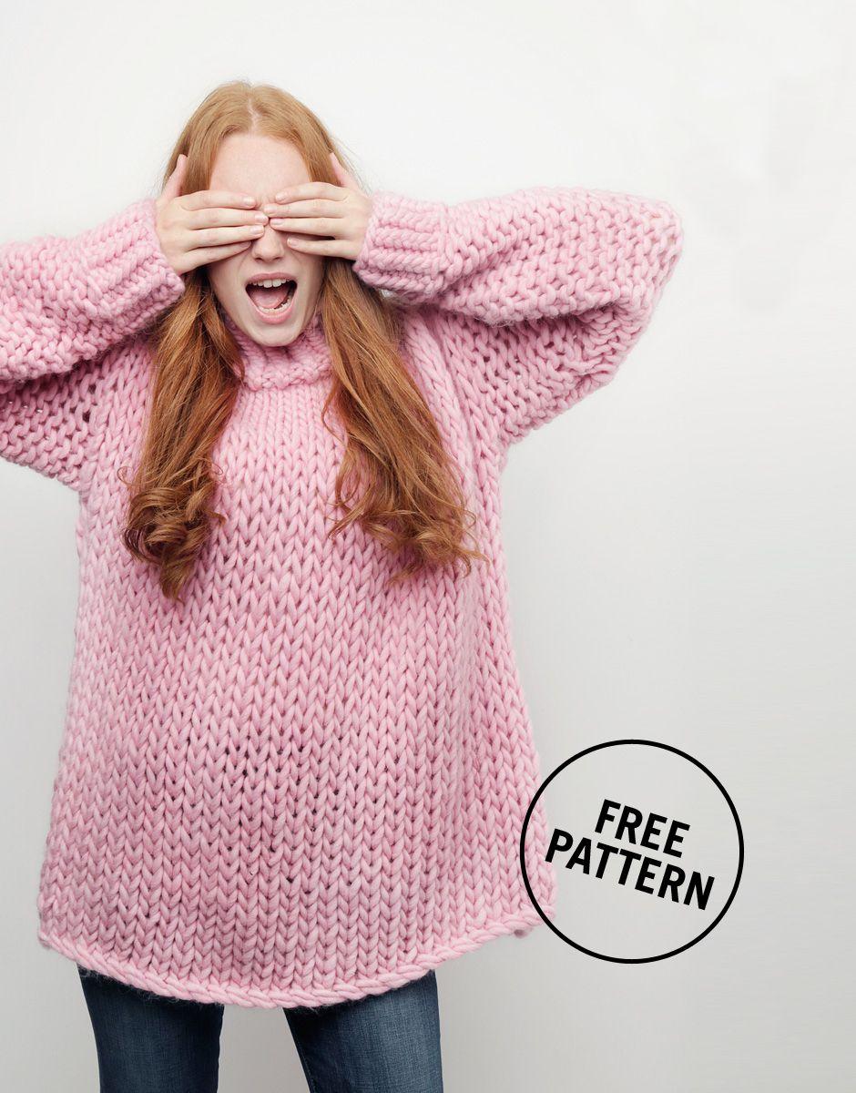 10fc8e329 Wonderwool Sweater by Wool and the Gang X Good Housekeeping   FREE PATTERN   woolandthegang  goodhousekeeping  crazysexywool  free  pattern  sweater ...