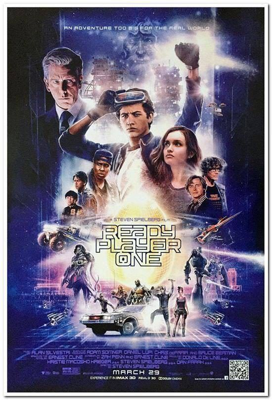 READY PLAYER ONE -2018- Original 27x40 Movie Poster - Style B ...