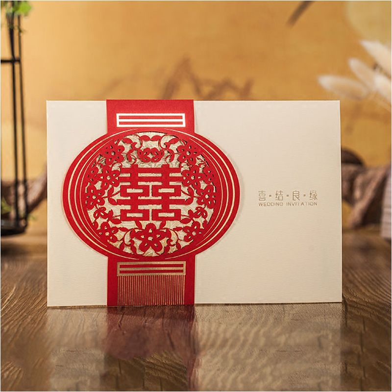 25pcs chinese xi laser cut champagne wedding invitation cards with 25pcs chinese xi laser cut champagne wedding invitation cards with envelope event party supplies in cards invitations from home garden on stopboris Choice Image