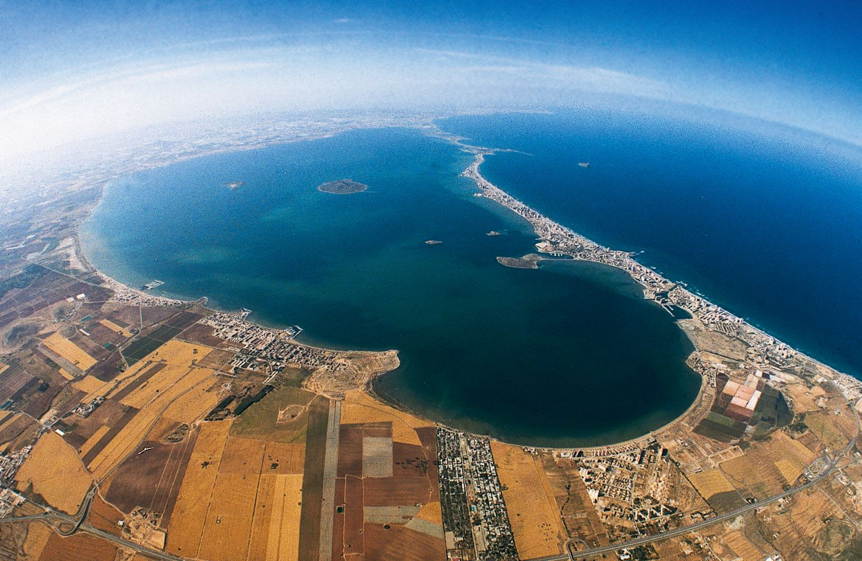 Vista Aérea Del Strip Las: Vista Aérea Del Mar Menor