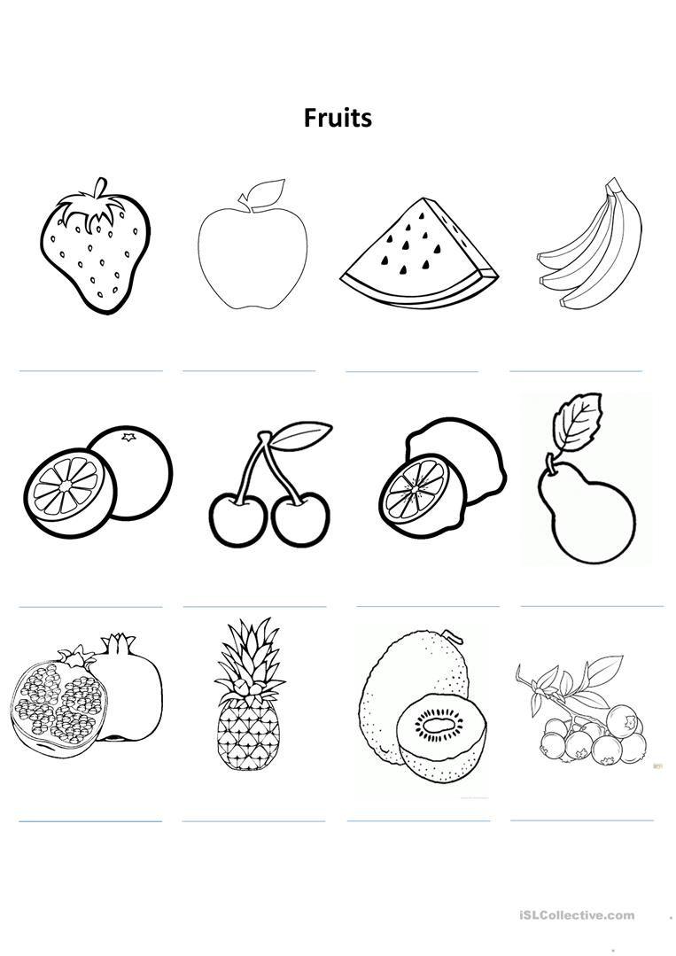 Coloring Fruits Worksheets Colouring Mermaid Fruit Coloring Pages Apple Coloring Pages Fruit Picture