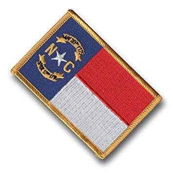 North Carolina Flag Badge Embroidered Patch