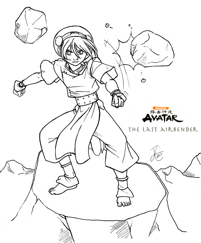 Atla Toph Coloring Page Coloring Pages Coloring Books Abstract Coloring Pages