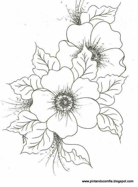 Flores Flower Drawing Drawings Coloring Pages