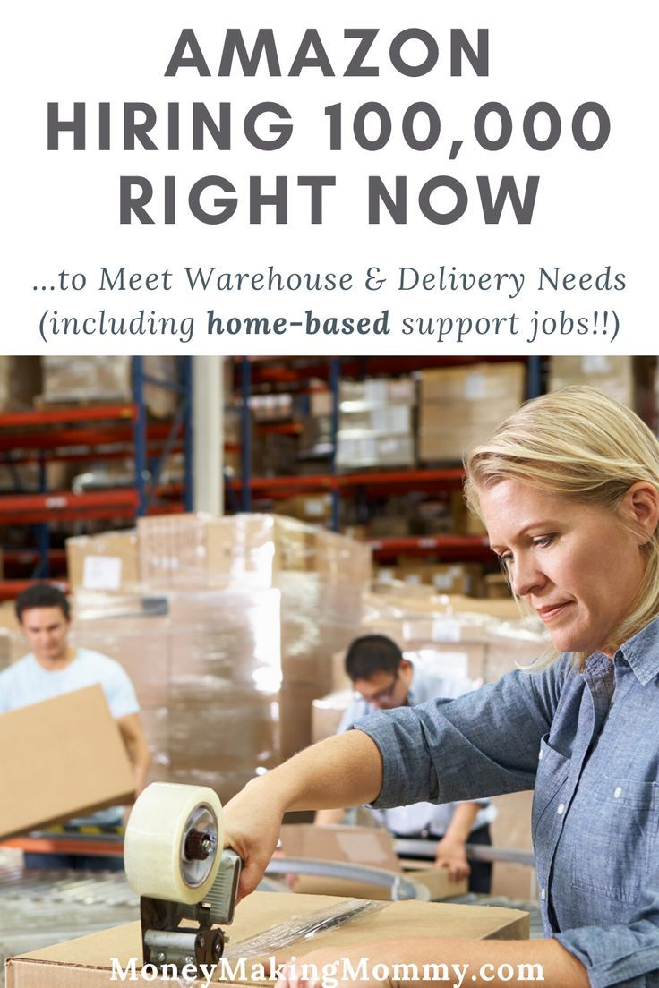 Amazon Trying to Hire 100,000 To Meet Warehouse & Delivery
