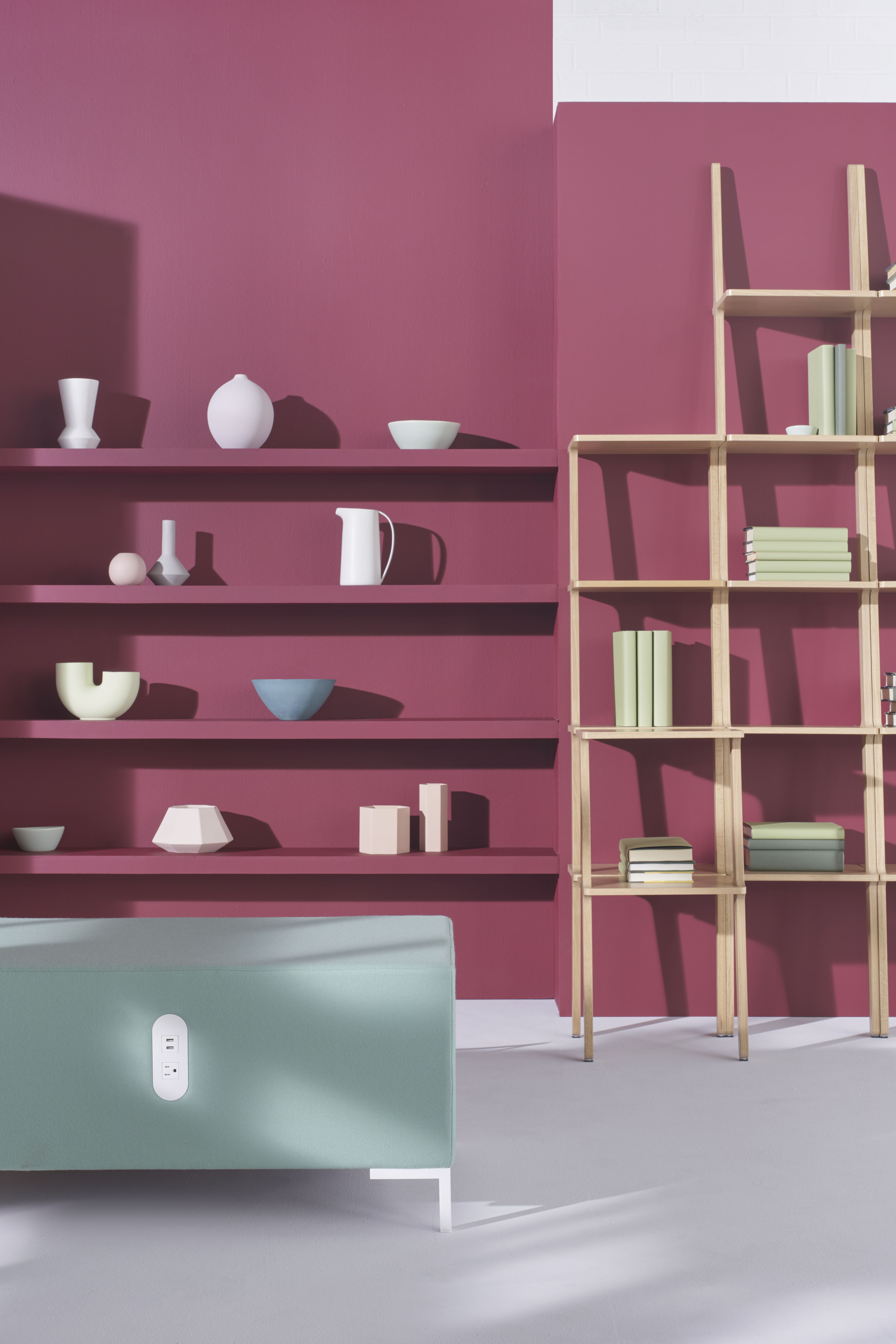 Libri Shelves Were Sculpted With A Ladder Like Design And Act As