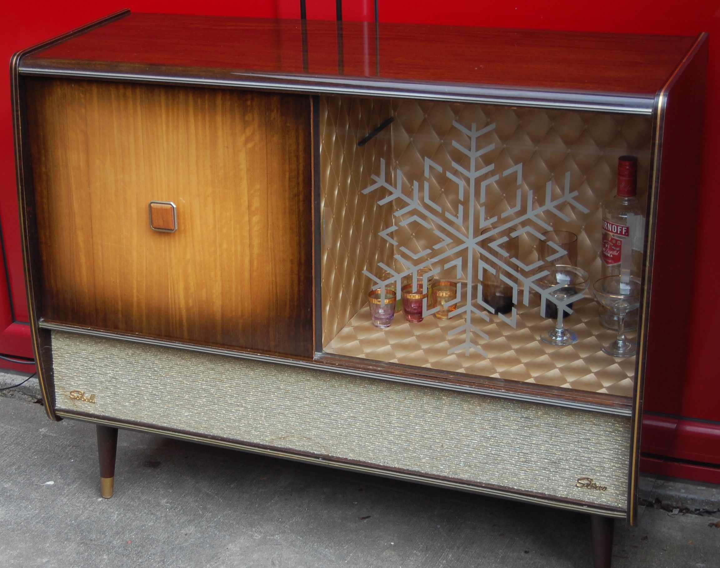 Fully Restored 1950s Vintage Sobell Sg678 Valve Radiogram With Cocktail Bar Mp3 Compatible Dingser