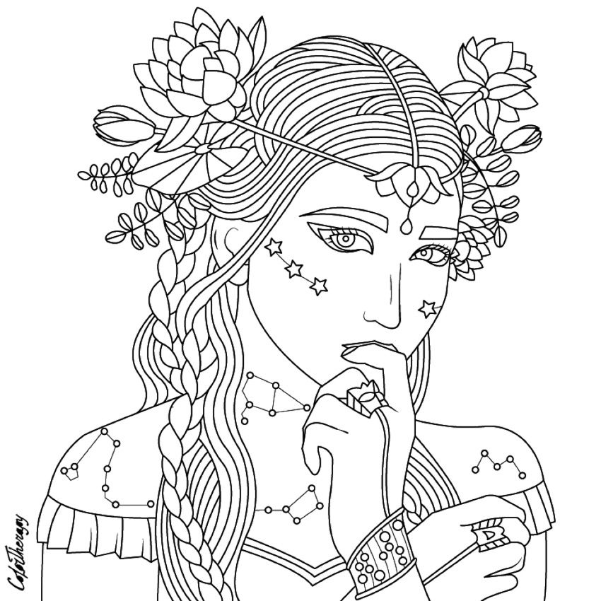 Beauty coloring page Beautiful