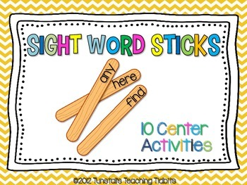 Photo of Sight Word Stick Centers