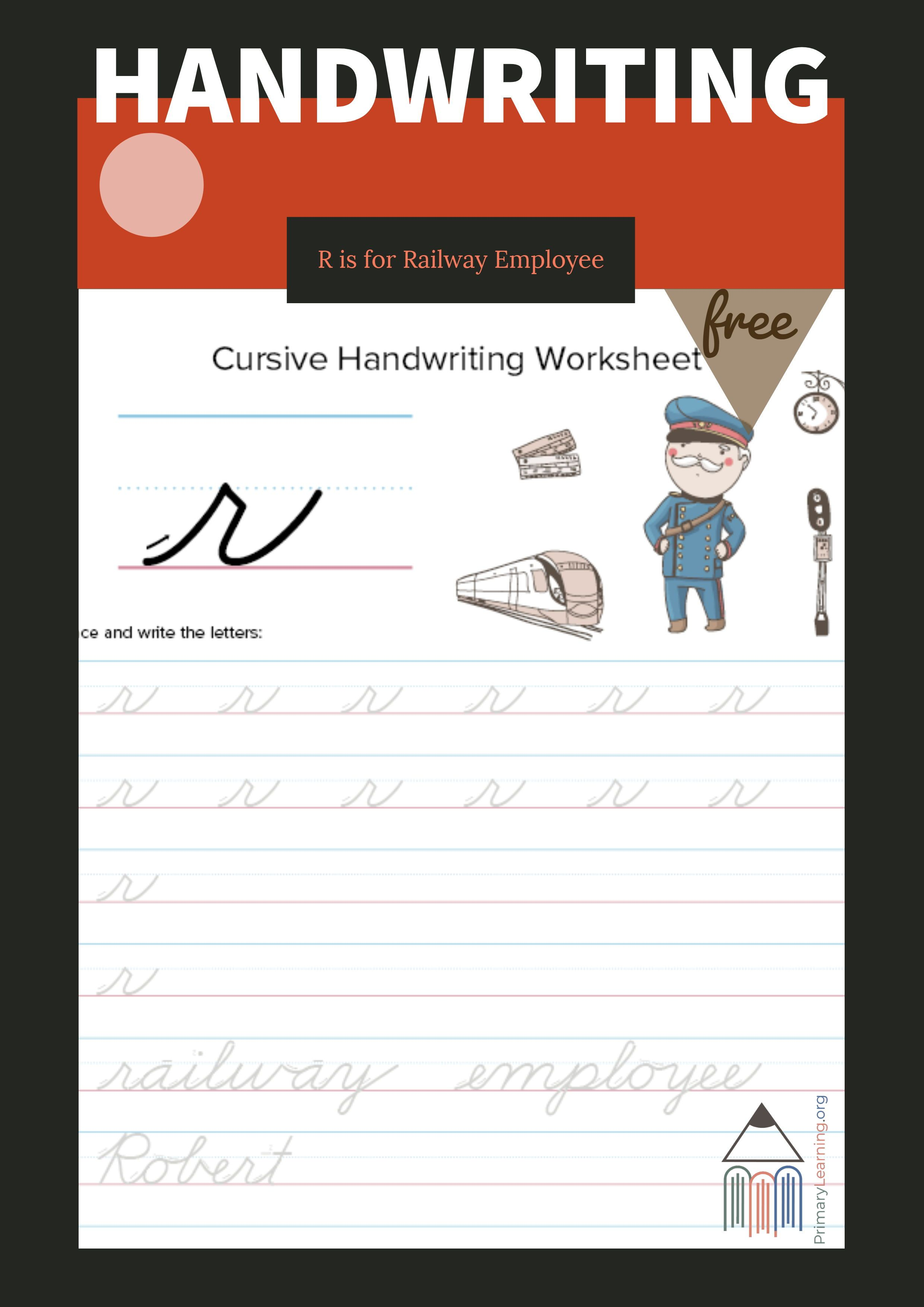 Lowercase Cursive R Worksheet