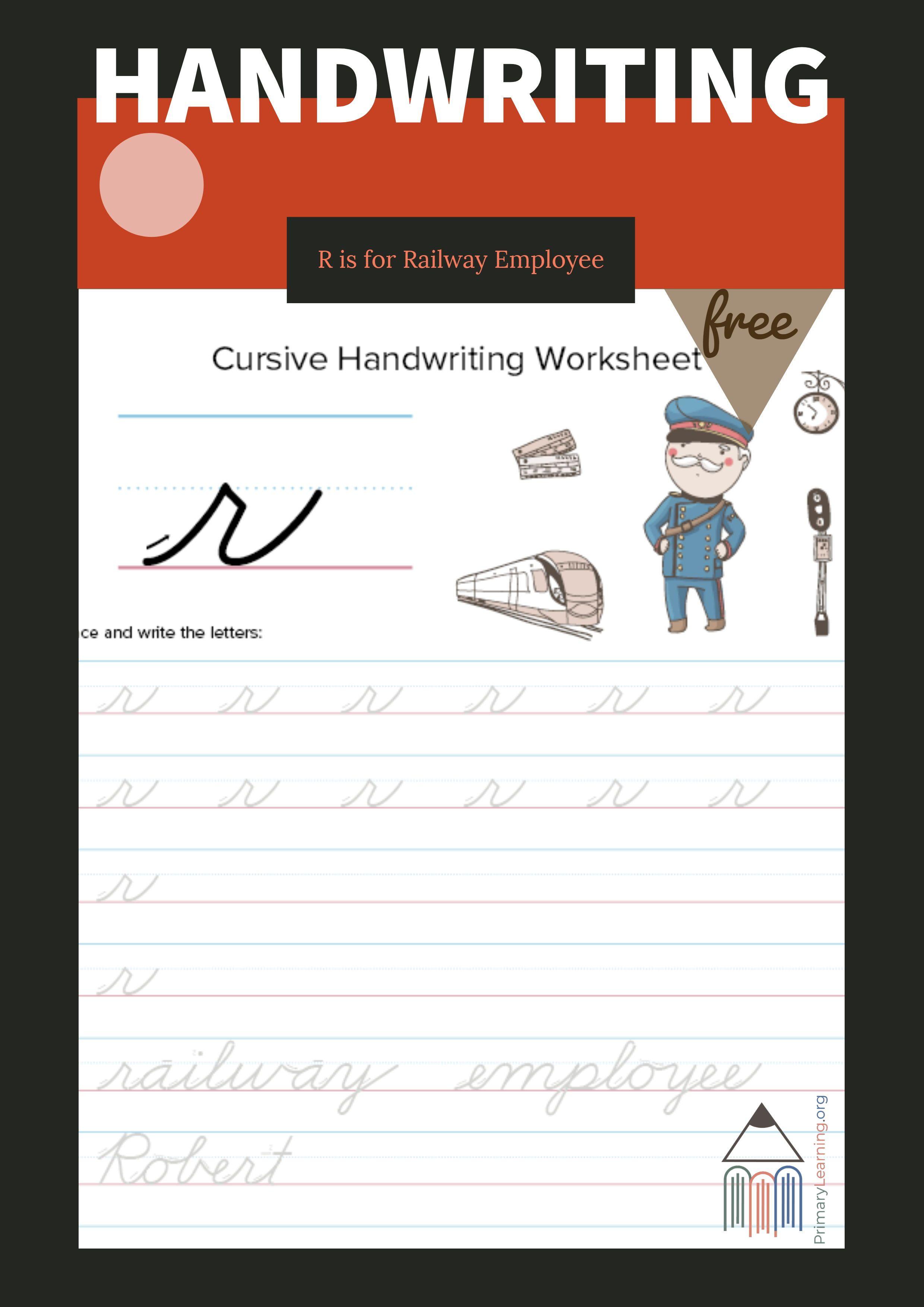 Lowercase Cursive R Worksheet