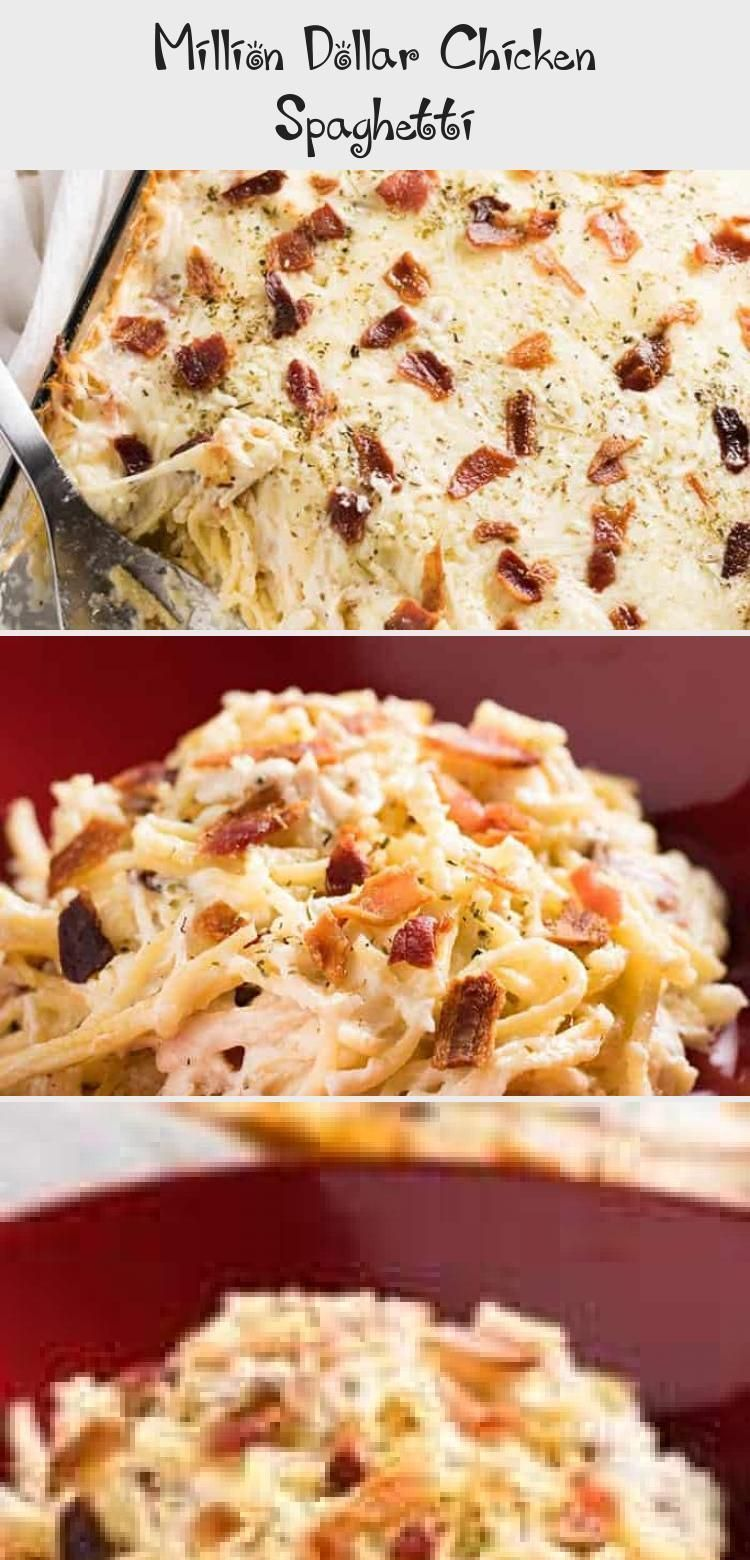 Million Dollar Chicken Spaghetti #sourcreamnoodlebake Million Dollar Chicken Spaghetti - The best ever chicken spaghetti that is easy to make! This mouthwatering chicken spaghetti casserole is rich and hearty, full of cream cheese, bacon, sour cream, parmesan, mozzarella, tender chicken, and spaghetti noodles baked to perfection! #Summerrecipe #Bakingrecipe #Whole30recipe #Dessertrecipe #Chickenrecipe #sourcreamnoodlebake Million Dollar Chicken Spaghetti #sourcreamnoodlebake Million Dollar Chi #sourcreamnoodlebake