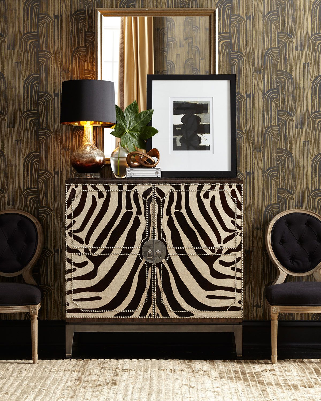 Zebra Decor Living Room: Vanna Zebra Cabinet