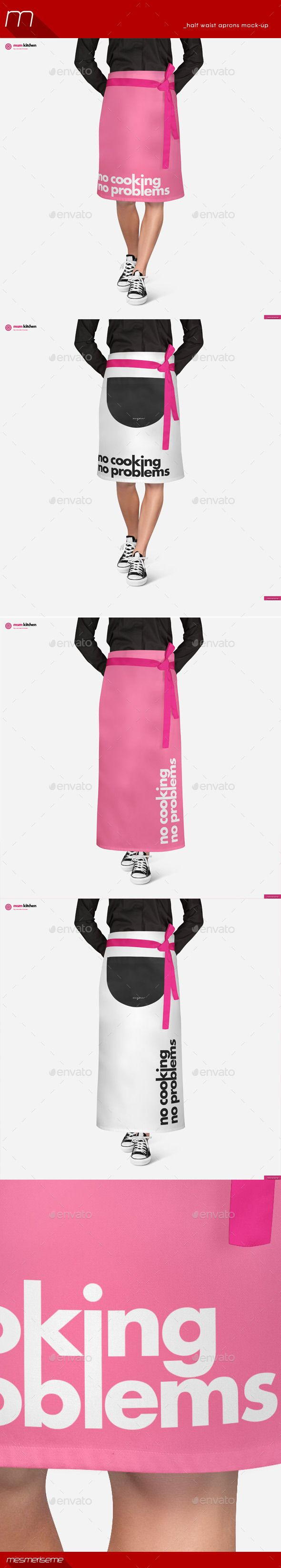 White apron mockup - Buy Half Waist Apron 2 Types Mock Up By Mesmeriseme On Graphicriver Half Waist Aprons Mock Up 2 Psd Files Px 72 Dpi You Can Pick Your Own Color Gradient