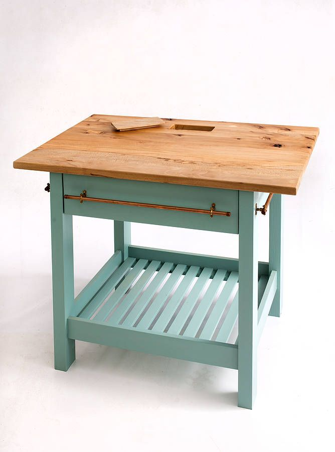 Best Handmade Kitchen Island With Painted Base By The Old 640 x 480