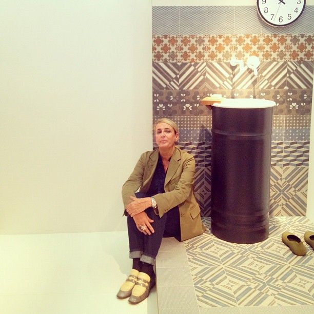 Apartment Therapy: Patricia Urquiola with her brand new beautiful Azulej tiles for Mutina #cersaie